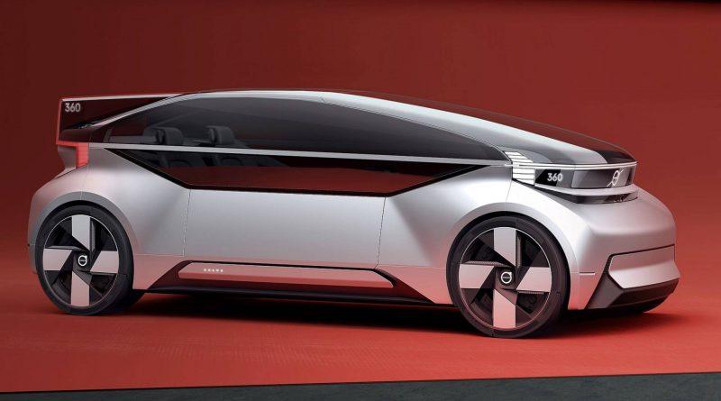 Volvo toont concept car die concurrentie met vliegtuig en trein aangaat.