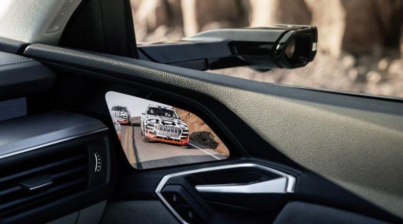 Virtual mirror systeem op de Audi e-tron