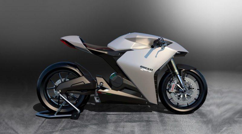 een prototype van een elektrische Ducati