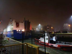 De Glovis captain komt aan in Zeebrugge