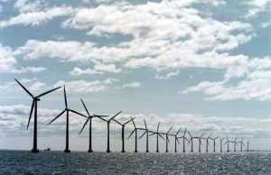 windmolenpark op zee