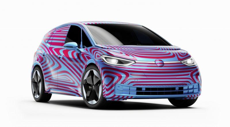 Vooraanzicht van de nieuwe Volkswagen ID.3